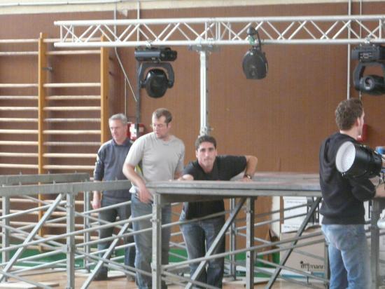 préparation de la scène