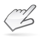 10616085 icone de la main gauche du curseur avec l ombre sur fond blanc